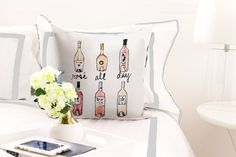 Illustrated Pillow: Rose All Day Fashion pillow cute pillow