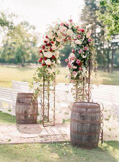 Floral arch - organic floral arch - Ashley Upchurch Photography Tree Wedding, Floral Wedding, Wedding Photos, Wedding Ideas, Oklahoma Wedding, Floral Arch, Rustic Weddings, Event Ideas, Barns
