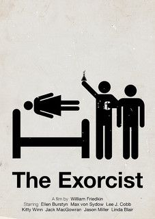 'The Exorcist' pictogram movie poster