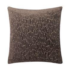 Kissen Tonara - 45 X 45 cm, Taupe, Polyester / Baumwolle