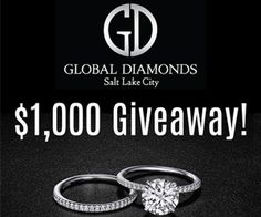 $1000 Global Diamonds Giveaway – ENTER HERE!