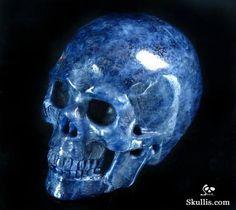 Sapphire Corundum Crystal Skull