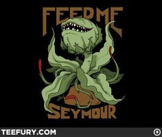 Little Shop of Horrors Audrey II Feed Me Seymour - another shirt design that made me tremor when I saw it! Horror Decor, Horror Art, Horror Movies, Horror Drawing, 80s Movies, Action Movies, Disney Little Mermaids, The Little Mermaid, Movies Showing
