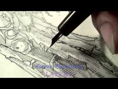 Pen and Ink Cross Hatching Masters Edition - YouTube