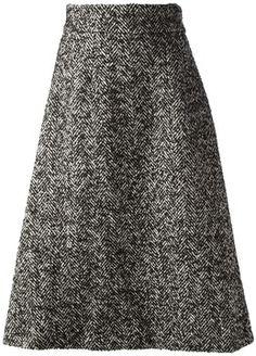 Dolce & Gabbana tweed a-line skirt on shopstyle.com
