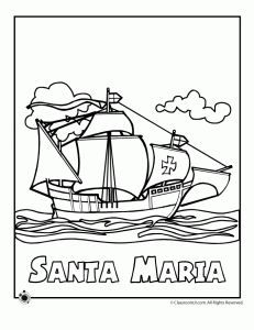santa maria columbus colori 231x300 columbus day coloring pages christopher columbus for kids columbus day