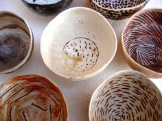 Pinched bowls by woodfirer, via Flickr