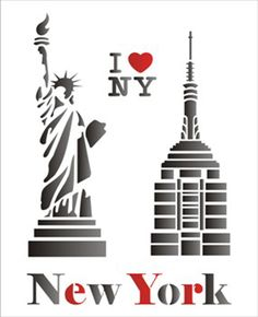 Simples - Cidades New York - New York Party, Ny Map, Stencils, Free Nyc, Nyc Tattoo, Paper Cutting Templates, Cupcake Tutorial, Paper Architecture, Glass Engraving