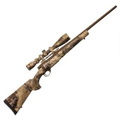 """Howa Hogue Kryptec Package Bolt Action Rifle .30-06 Spfld 22"""" Barrel 4 Rounds Hogue Kryptec Highlander Synthetic Stock 4-16x44 Scope Cerakote Brown HKF63207KH+AB - 682146370409"""