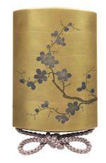A gold lacquer four-case inro By Iizuka Toyo III, 19th century