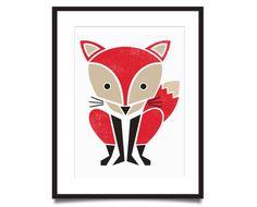 Red Fox Screenprint