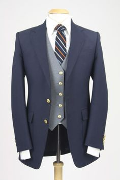 Vintage Mod Navy Reversible 3 Piece Indie Vested Suit 40 R from ModLines