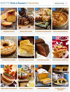 30 Torte, dolci, crostate una più buona dell'altra. Tutte torte fresche di giornata :) Mini Desserts, Biscotti, French Toast, Muffin, Breakfast, Sweet, Collage, Food, November