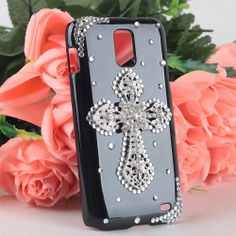 Amazon.com: Handmade Diamond Bling Silver Cross Hard Back Case for Samsung Galaxy S2 I727 Skyrocket AT&T Phone: Cell Phones & Accessories