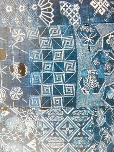 indigo from an antique kimono Neville Trickett on flickr