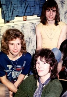 Chris Squire (The Bass Titan of Yes - RIP), Bill Bruford (formerly of Yes & King Crimson) and Steve Howe (currently of Yes & Asia). Year unknown.
