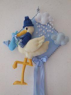 fiocco nascita cicogna azzurro di fiocchinascitajolie su Etsy