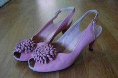 los años cincuenta Kimel Open Toe zapatos de por KittyGirlVintage, $79.00