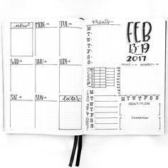 journal Weekly Spread: February 13-19, 2017