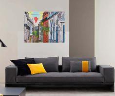 tableau peinture originale urbaine pastel Montpellier France par Celinemodernart sur Etsy