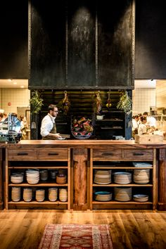 This perennial favorite from the team behind The Restaurant at Meadowood has a neighborhood feel to match family-style plates. Oak Restaurant, Restaurant Kitchen Design, Decoration Restaurant, Kitchen Design Open, Restaurant Interior Design, Kitchen Interior, Restaurant Interiors, Cafe Design, St Helena