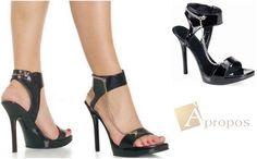 High Heel Sandale Damen Peeptoes Plateau Pump Stiletto Sandalette Schwarz