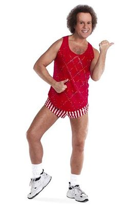 Richard Simmons.  Goofy, quirky and oh so motivating!!  People make fun of him, but I like him.