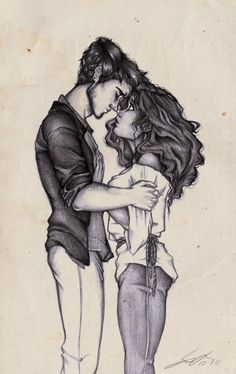 Somewhere Only We Know by ~GrisselleR on deviantART . Couple Sketch / Drawing Illustration