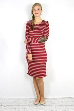 Sparkle and Stripes Dress (Charcoal)
