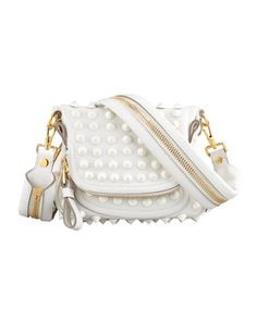 $2,690, White Studded Leather Crossbody Bag: Jennifer Mini Studded Crossbody Bag White by Tom Ford. Sold by Bergdorf Goodman. Click for more info: http://lookastic.com/women/shop_items/122816/redirect
