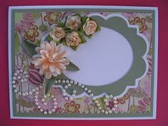 Elegant Edges Cricut Cartridge Greeting Card