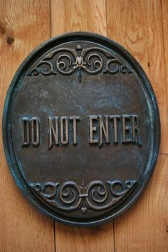Disney Prop Haunted Mansion Attraction Do Not by QuestDesignCanada