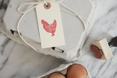 Farm Fresh Chicken Rubber Stamp - Wood Stamp - Hand Lettered - Egg Label - Egg Tag - Fresh Eggs Label - Homestead - Personalized Stamp