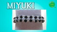 Pulsera con tupis y perlas B/N | Miyuki | DIY