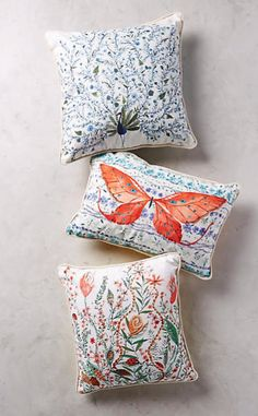 Humming Meadow Pillow #anthroregistry