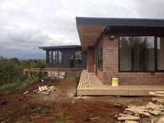 Construcción terrazas, vista piezas y living-comedor al final