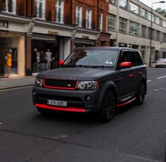 Matte black with red details ! Love this one!