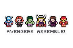 Avengers Assemble - Marvel Cross Stitch Pattern (PDF)