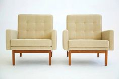 Pair of Knoll Lounges | From a unique collection of antique and modern lounge chairs at http://www.1stdibs.com/furniture/seating/lounge-chairs/