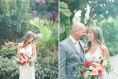 ocean wedding bride and groom