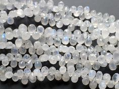 Rainbow Moonstone Faceted Tear Drop Beads Rainbow by gemsforjewels
