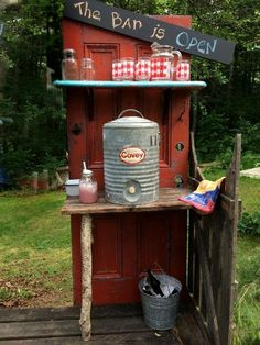 Kelly Schwierzke's outdoor bar