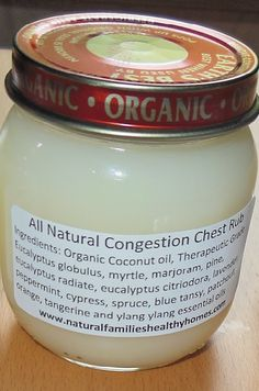 Chest Congestion Rub  Natural Directions: Add 4oz of coconut oil to a glass jar (baby food jars are perfect!) Add 12 drops of R.C. essential oil blend Add 3 drops of Peace and Calming essential oil blend. Put lid on jar and shake to mix (run under hot water if coconut oil is solid). Rub on child's chest and feet when they are congested.     LEARN MORE and ORDER HERE: HeavenScentOils4U... #yleo #youngliving #essentialoils #heavenscentoils4u #naturalremedies #essential #oils