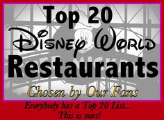 Looking for a new place to eat on vacation? Try one of these 20 Disney World restaurant suggestions...(planning article with links for reservations and menus)