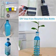 DIY Vase from Recycled Glass Bottle  http://ift.tt/1WPeq51