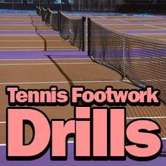 7 Excellent Tennis Footwork Drills: http://www.besttennisdrills.com/tennis-footwork-drills/  #tennis #drills #sports #footwork