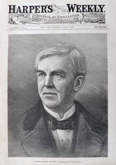 1886 Oliver Wendell Holmes Portrait ~ Harper's Weekly Print Engraving
