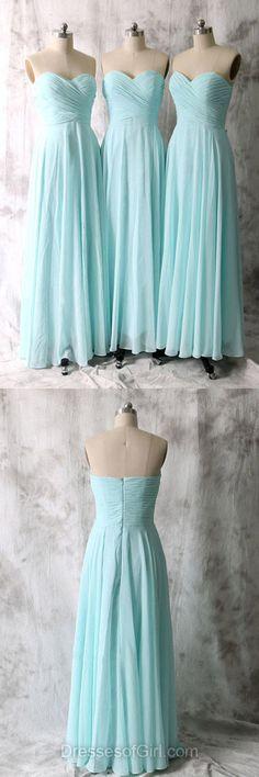 Sky Blue Bridesmaid Dresses, Long Bridesmaid Dresses, Cheap Bridesmaid Gowns, Modest Bridesmaid Dress