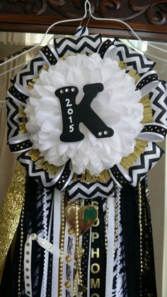First attempt at making Homecoming mums. Made this one for Tate's Sophomore date.