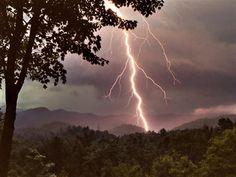 lightning strike in Georgia's Chattahoochee National Forest.